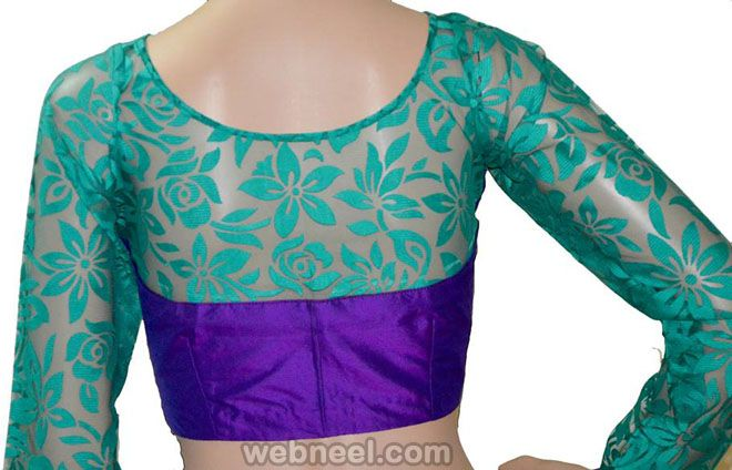 50 Different types of Blouse Designs Patterns - Designer Saree Blouses. Read full article: http://webneel.com/blouse-designs-patterns-designer-blouses   Follow us www.pinterest.com/webneel
