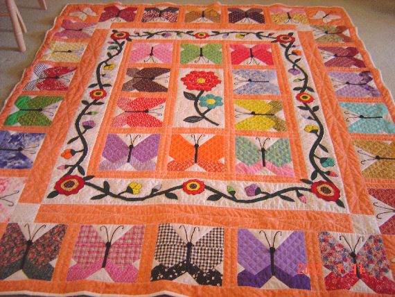 528 best butterfly quilts images on Pinterest   Butterflies, Quilt ... : butterflies quilt - Adamdwight.com