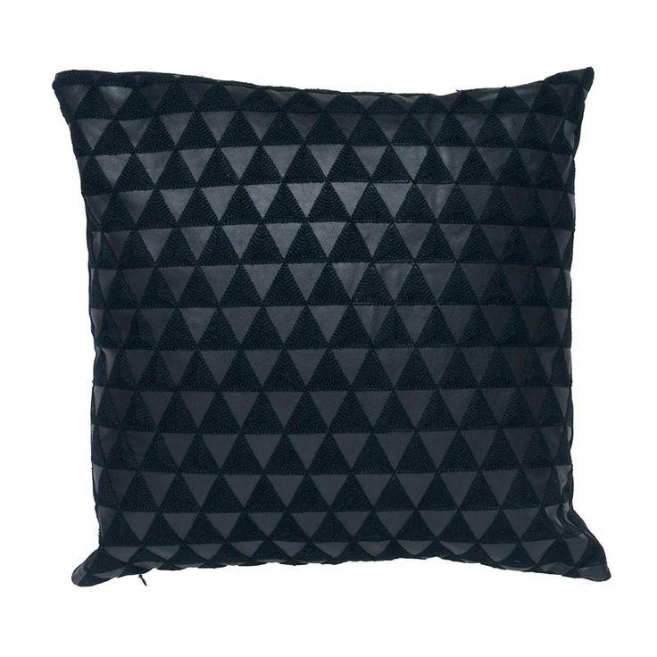 Black Tri Cushion - www.koop.co.nz