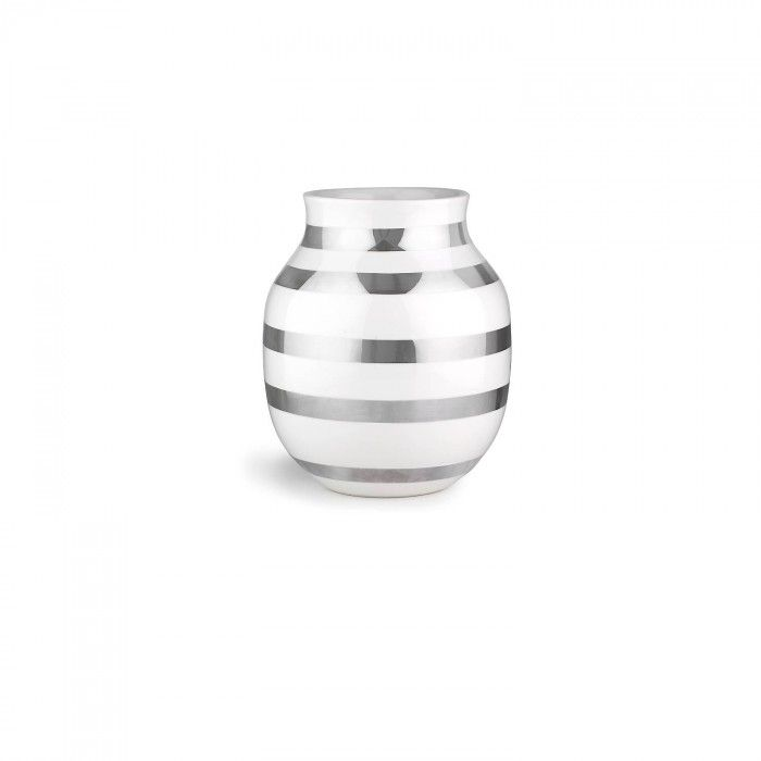 Kähler Omaggio Vase Sølv H:20cm