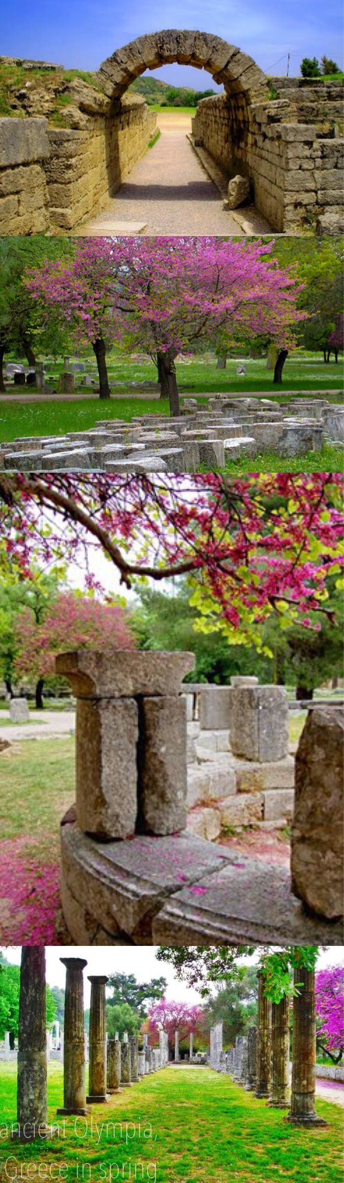 ancient Olympia, Greece in spring
