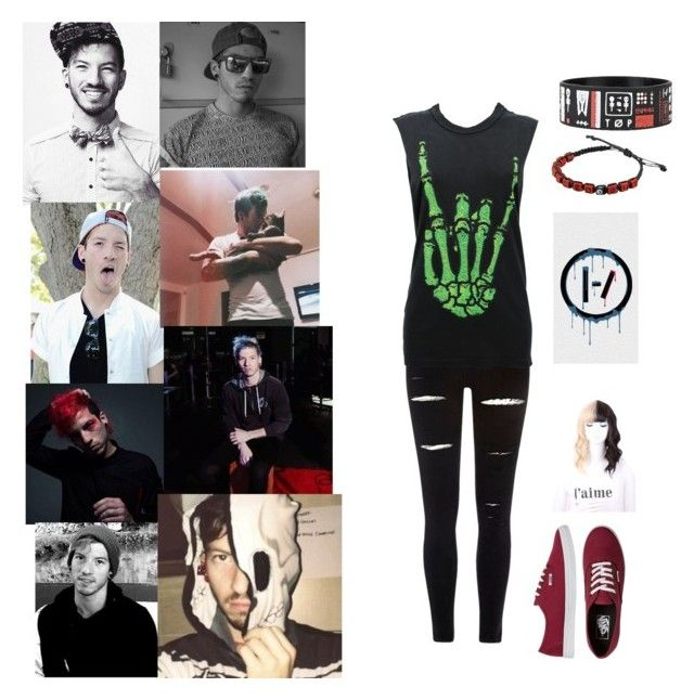 """""""Josh Duns Girlfriend"""" by fallenstar27 ❤ liked on Polyvore featuring River Island, UNIF and Vans"""