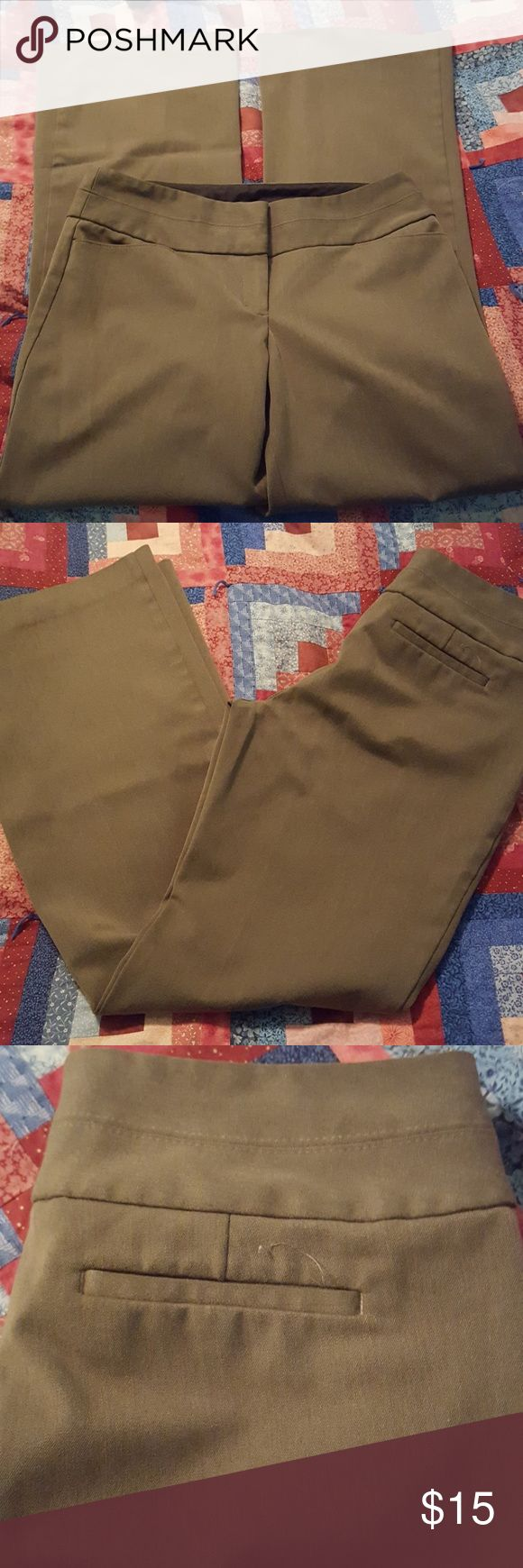 Brown Slacks Brown dress slacks from Express.  In new condition. Express Pants Trousers