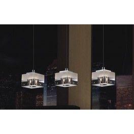 Italux Lampa wisząca, sufitowa, pasek biały, potrójna Cubric MD9216-3A