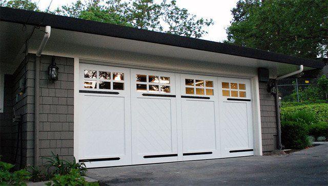 28 best craftsman garage doors images on pinterest for Arts and crafts garage plans
