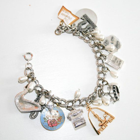 Tops and Kops Silver and Gold Toned Charm Bracelet by coleblk, $17.00