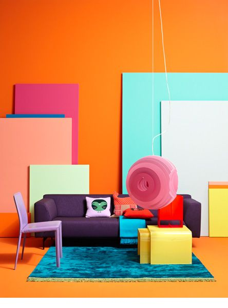 Simple and cheap way to add bold colour into a space. Jonas von der Hude  Farben
