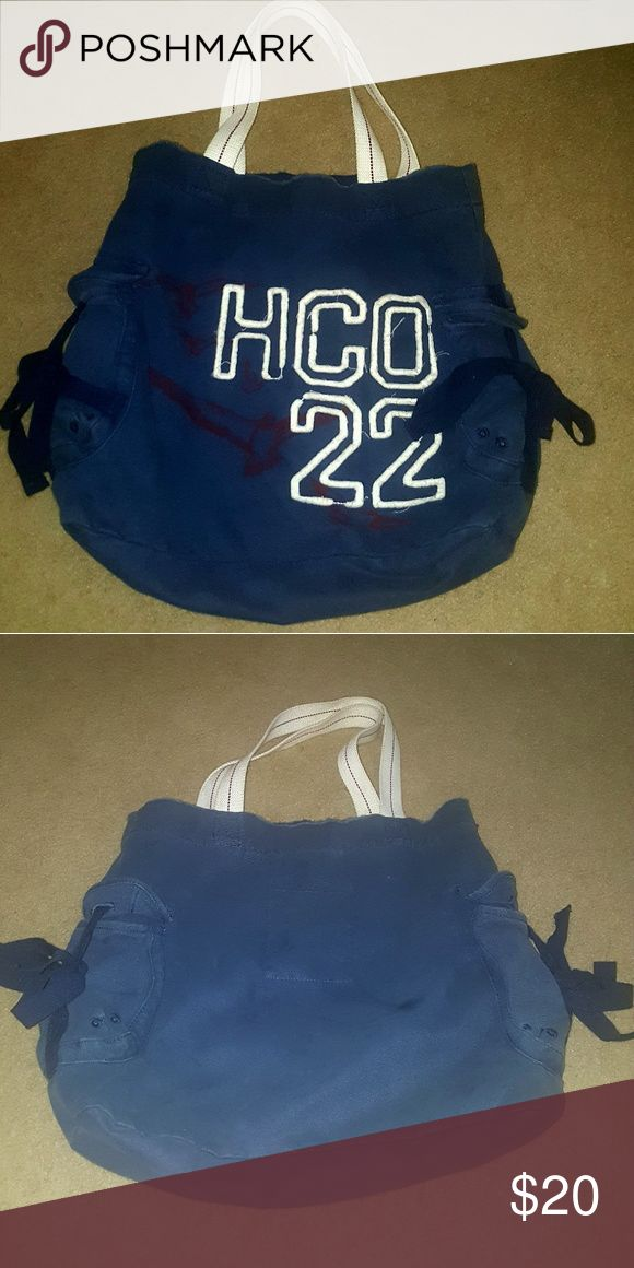 VINTAGE HOLLISTER BAG This bag is at least 15 years old.  Carried for a very short time.  Every teens dream. Hollister Bags Totes