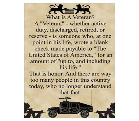 What is a Veteran Wall Art Poster at CafePress