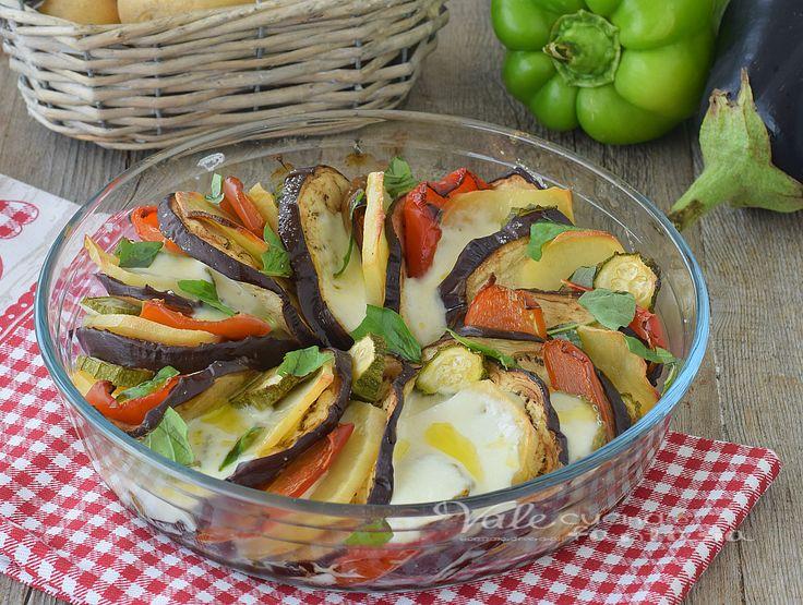 Verdure al forno con mozzarella