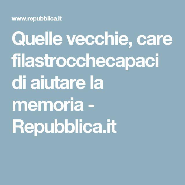 Quelle vecchie, care filastrocchecapaci di aiutare la memoria - Repubblica.it