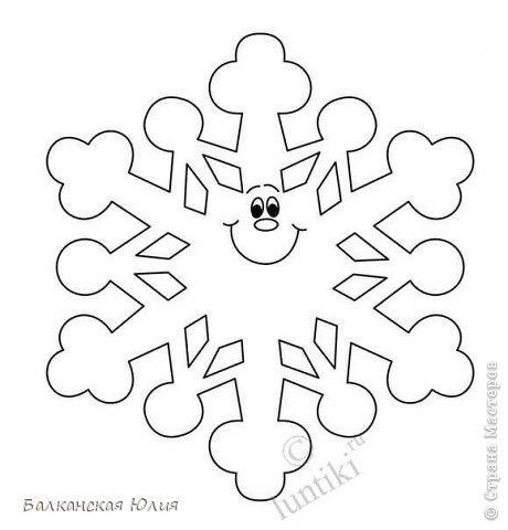 Вот такие смешные снежинки у меня получились в школу для ребёнка на украшение класса. Идею подсмотрела здесь http://stranamasterov.ru/node/118906?c=favorite Сзади ко всем снежинкам приделана верёвочка. А можно из них сделать и гирлянду, кому как нравится. фото 7
