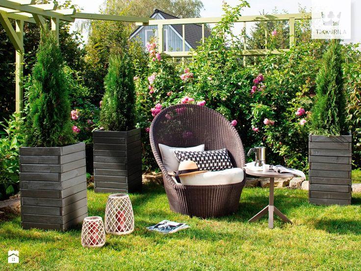 Tikkurila Valtti - ochrona i dekoracja drewna na zewnątrz - Średni ogród za domem - zdjęcie od Tikkurila GARDEN INSPIRATION | garden furniture |