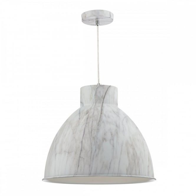 The Lighting Book BUFFALO Metal Pendant Light Fitting Finished in Cararra Marble effect. - Ceiling Lights from Lighting Company UK
