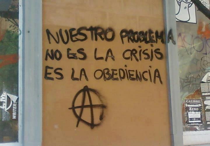 nuestro problema no es la crisis es la obediencia