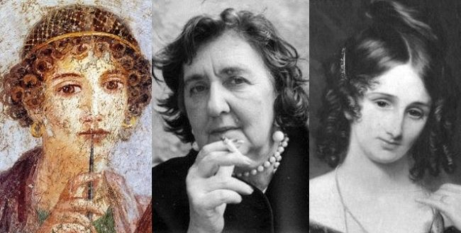 Le 10 scrittrici ''dannate'' della letteratura  top ten scrittrici dannate, Saffo, Alda Merini, Mary Shelley, Virginia Woolf, Sylvia Plath libreriamo.it