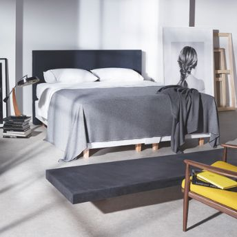 A Vispring super king bed costs fro m£4,425; bespoke from £5,000