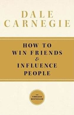 How to Win Friends and Influence People is one of the first best-selling self-help books ever published. Written by Dale Carnegie and first published in 1936, it has sold 15 million copies world-wide.[1]