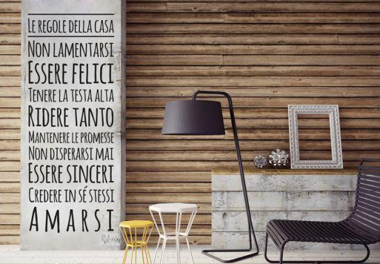 Adesivi murali - Regole della casa 2