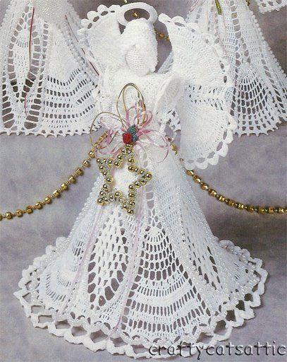 crochet angels - Barbara H. - Picasa Web Albums   HODNĚ ANDĚLU VČETNĚ NÁVODU