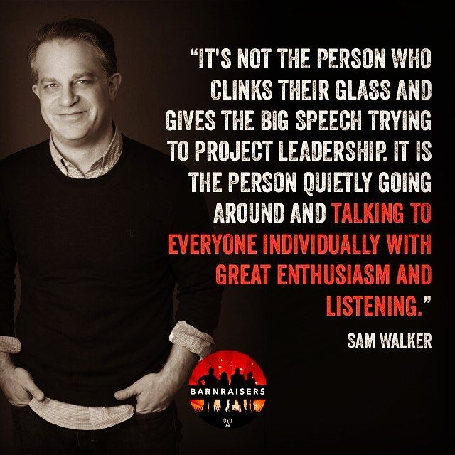 Barnraisers  Episode 6 with Sam Walker. Sam knows the secret to winning and its not what you think it is. Its not the star the coach money or strategy. Its something else entirely. In his book The Captain Class Sam Walker former global sports editor of The Wall Street Journal profiles the greatest teams in history and identifies the counterintuitive leadership qualities of the unconventional men and women who drove them to succeed.  Several years ago Sam set out to answer one of the most…