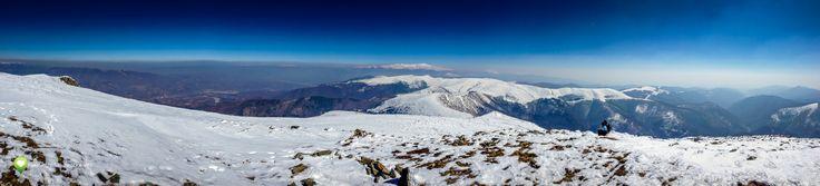 Panoramă de pe Vârful Straja, click pentru versiunea mai mare
