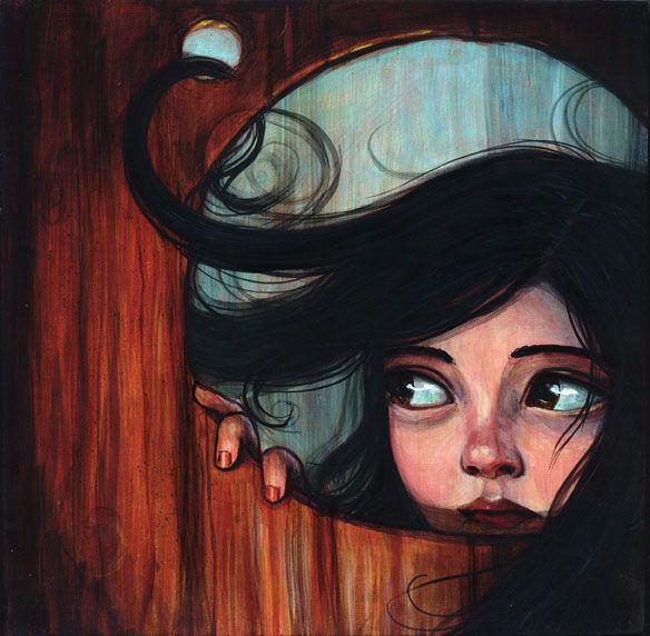 Girl. Hair. Illustration by Kelly Vivanco