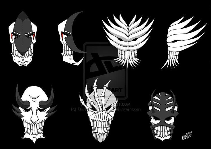 Vizard masks set 2 by dark on deviantart mask pinterest bleach - Ichigo vizard mask ...