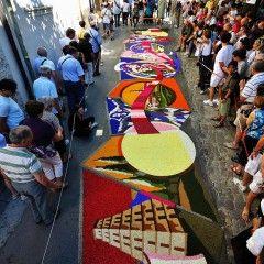 Цветочный фестиваль в Спелло le infiorate di Spello