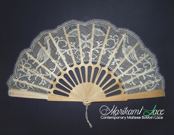 The Eye of Osiris Bobbin Lace Fan by MarikamiLace on Etsy