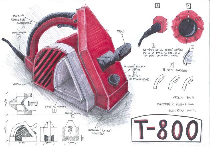 T-800 - elektrický hoblík (prezentační skica)