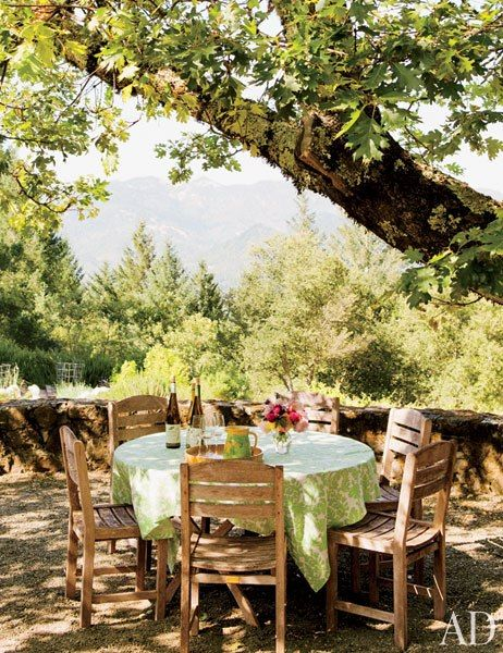 AD - A Guide to Napa's Best Hotels, Vineyards, and Restaurants - gorgeous outside setting at the Stony Hill Vineyard - http://www.stonyhillvineyard.com/