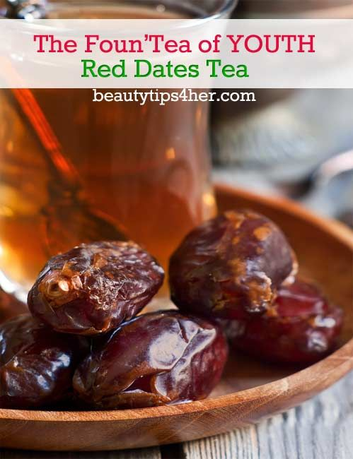 Here's a red date tea recipe to leave your skin smooth and shiny. Known as a fountain of youth tea since they help to slow down the aging process and aid in strengthening the functions of heart and lungs. | Beauty and MakeUp Tips