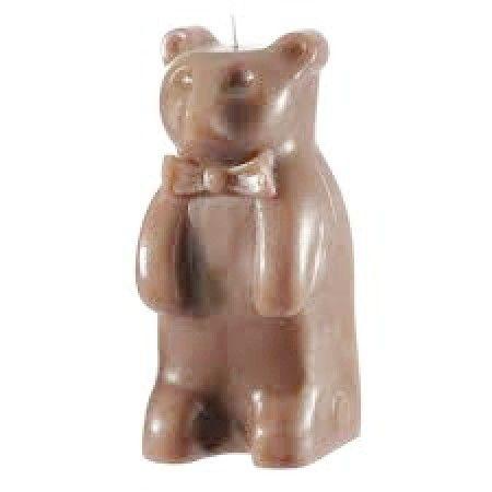 candela a forma di orsetto marrone