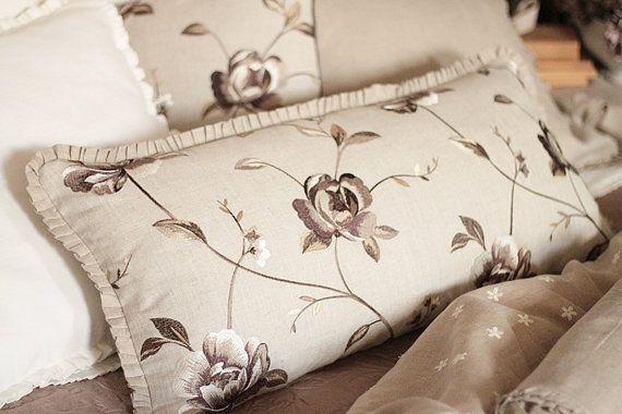 Designer Lumbar Pillow  Clarke & Clarke embroidered by emeisonCOM