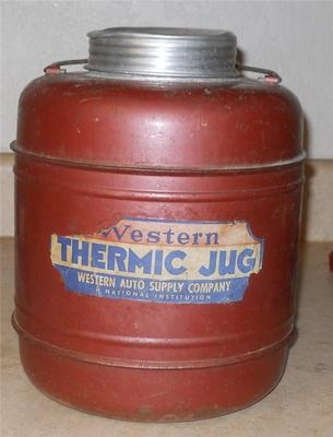 VINTAGE RED WESTERN THERMIC (THERMOS) JUG BY WESTERN AUTO SUPPLY-STILL WORKS | eBay