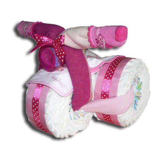 Windeldreirad rosa - Windeltorte Dreirad bestellen