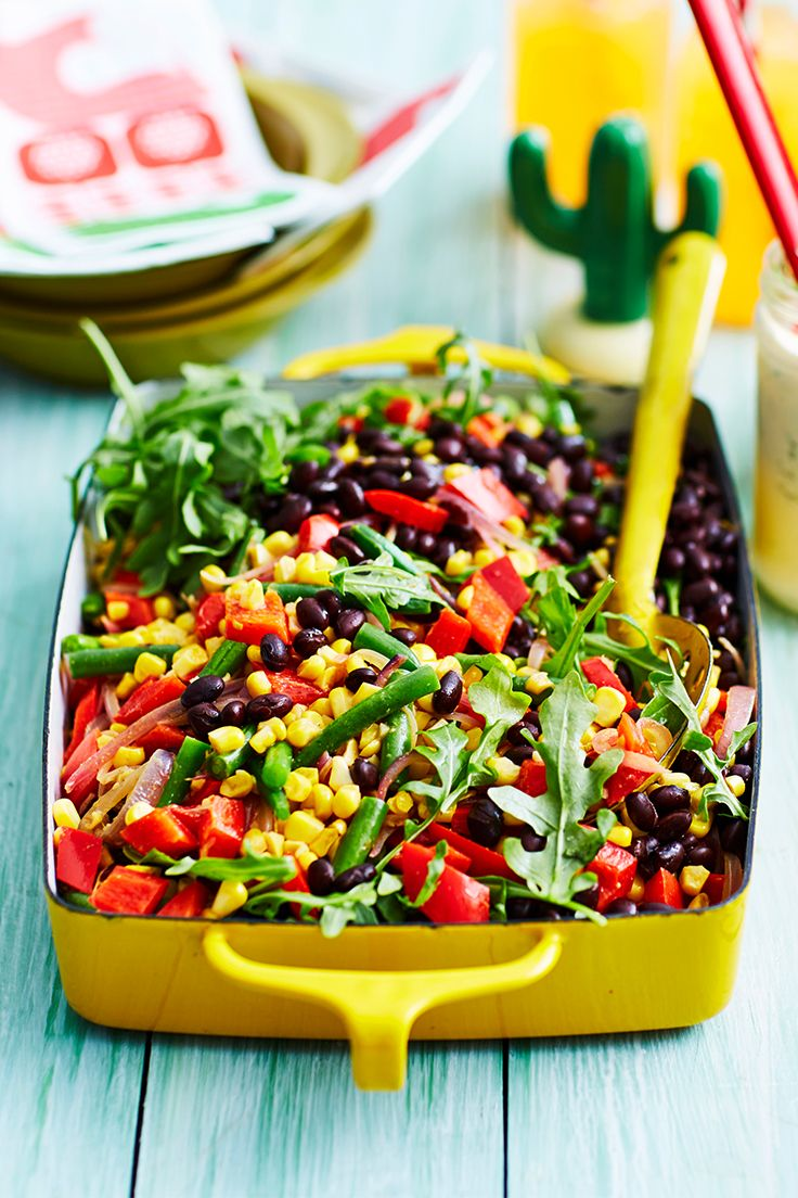 This colourful salad comes to life with a tongue-tingling Mexican dressing. Bring it along to any gathering - it's sure to be a crowd-pleaser!