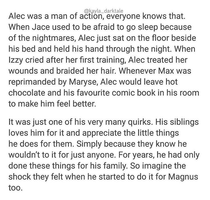 Imagine their reaction when they see magnus doing those stuff for alec