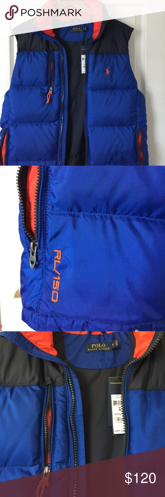 NWT Men's Puffer Vest Ralph Lauren Polo Winter vest, never worn. Has inside pocket and corded interior drawstring. Kept in a smoke/pet free household. Polo by Ralph Lauren Jackets & Coats Puffers