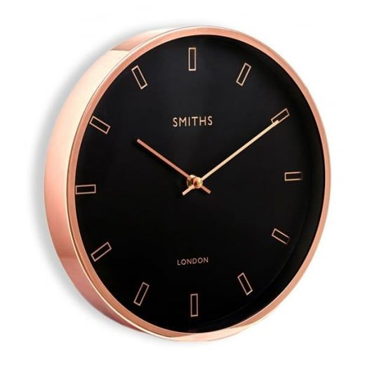Smiths Clocks Rose Gold Wall Clock