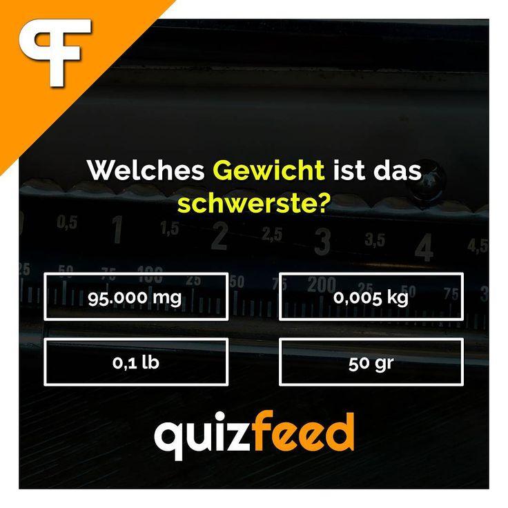 Welches Gewicht ist das schwerste? Kennst du die korrekte Lösung? Like  und Kommentiere  deine Antwort. Die Auflösung erfolgt als Story-Beitrag. Viel Spass!   Wissen clever verpackt!  #rätsel #quiz #spielen #spass #wissen #schule #denken #mathe #kraft #gewicht #kilo #schwer #schlau #kochen #gewichte #zahlen