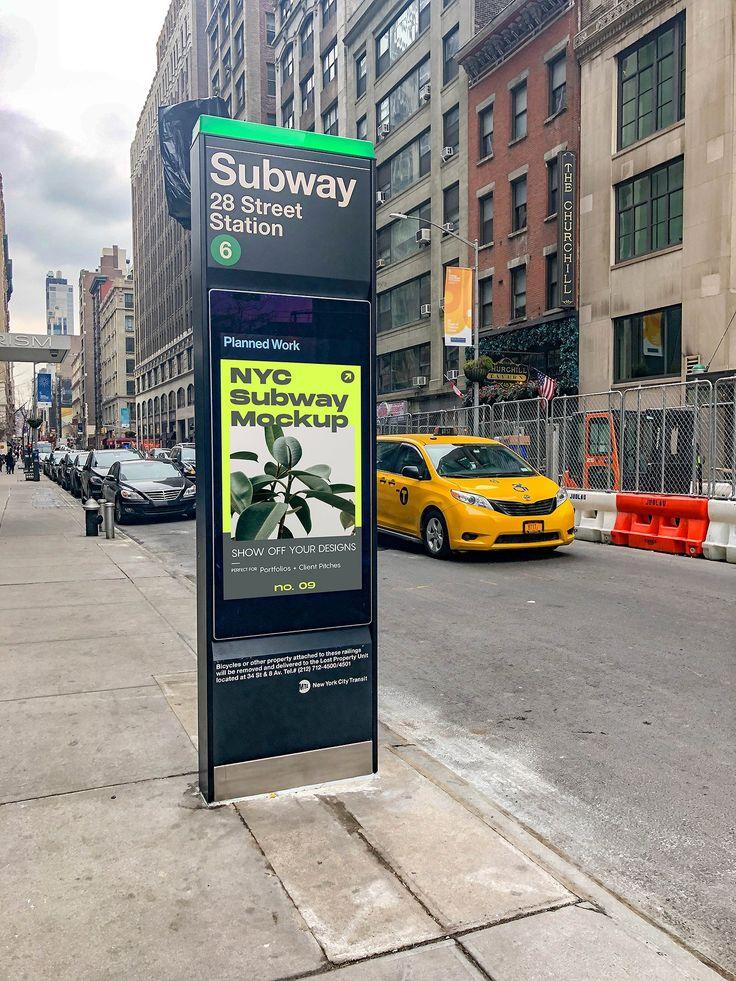 Transit ad mockup
