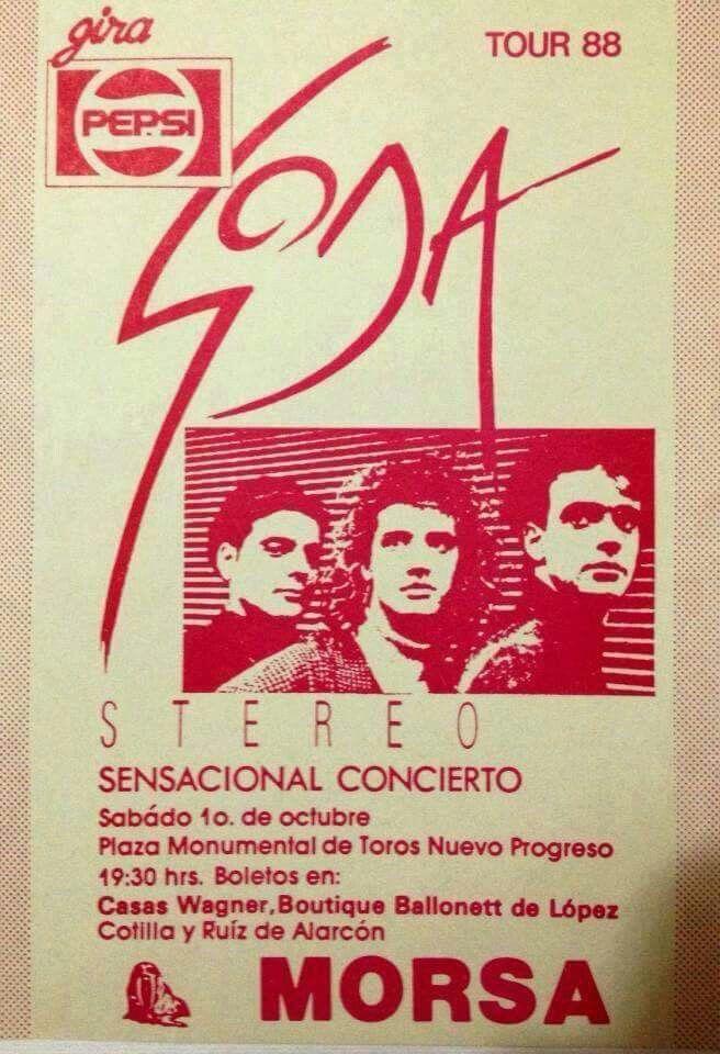 Gira de #SodaStereo año 88