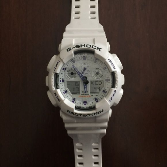 G-Shock Watch White G-Shock Watch. Worn max 4 times. Great condition. Price is firm. G-Shock Jewelry
