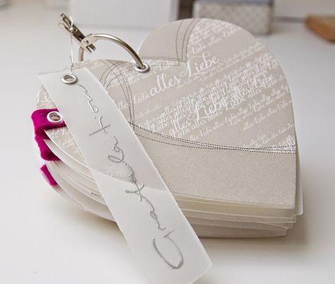 wunderschönes Herz-Leporello - keine Anleitung --- von Papierkram