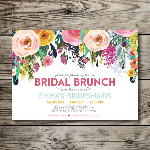 bridal luncheon / bridal tea / bridal brunch / bridesmaids luncheon / bridesmaids brunch / vintage / floral printable invitation