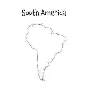 south america template