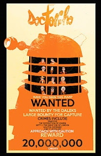 WANTED:  The Daleks  11 by 17 Hand Signed & Numbered  Limited Edition of 100  $30
