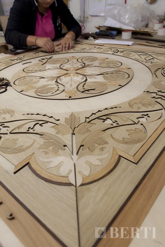 Wood Flooring Laser Inlays by Berti.
